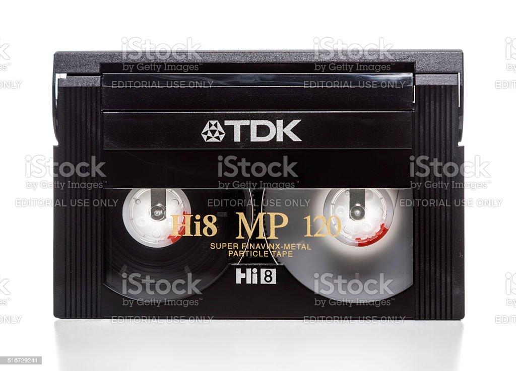 TDK Hi8 MP 120 tape cassette stock photo