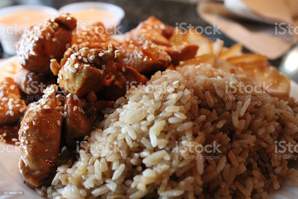 Hibachi Sesame Chicken stock photo
