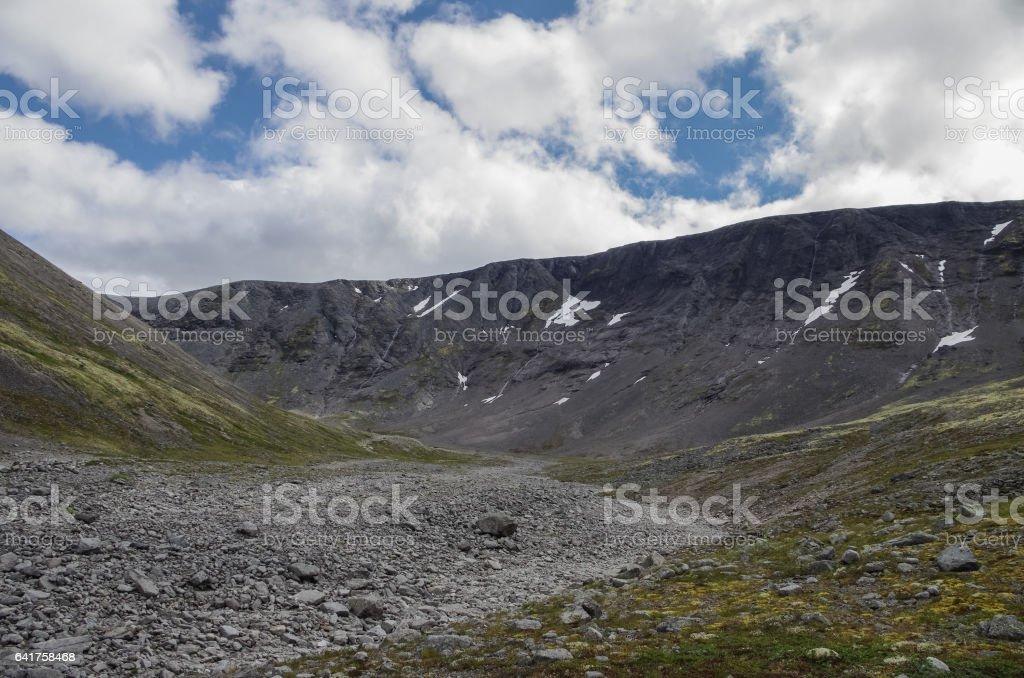 Hibiny mountains above the Arctic circle stock photo