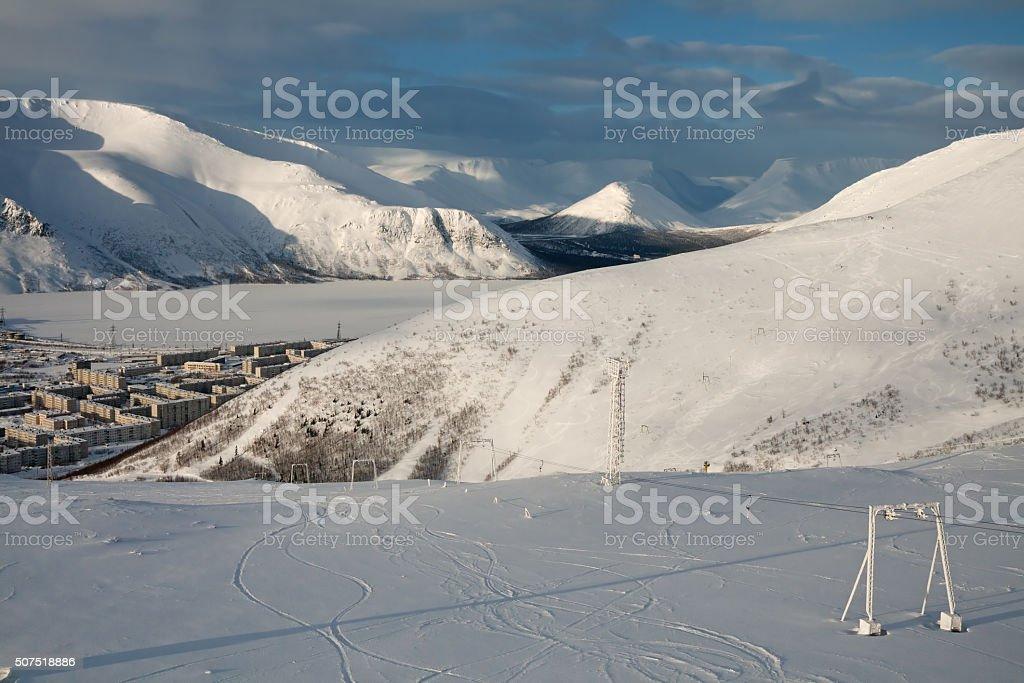 Hibiny winter stock photo