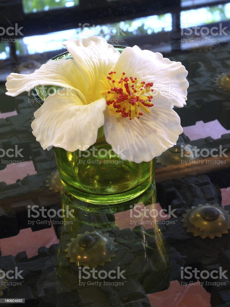 Hibiscus Flower on the table royalty-free stock photo