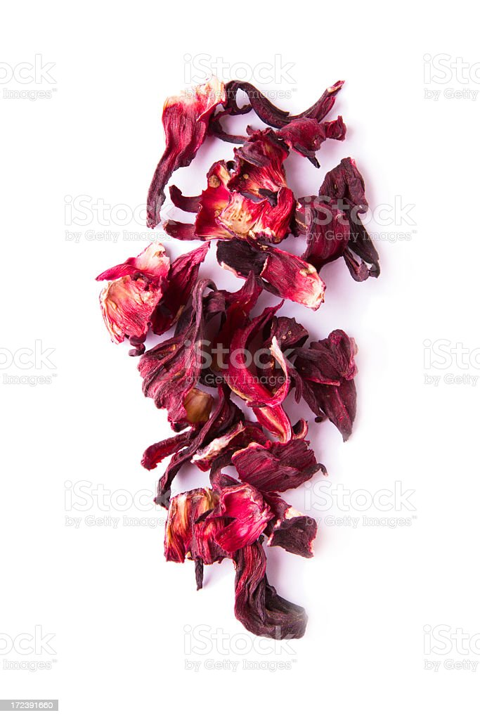 Hibiscus tea leaves stock photo