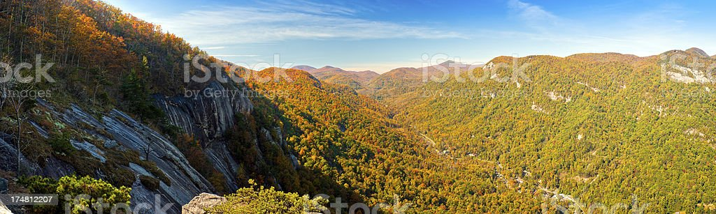 Hickory Nut Gorge, Chimney Rock Park, North Carolina, USA royalty-free stock photo