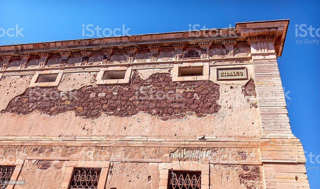 Hidalgo Window Alhondiga de Granaditas Guanajuato Mexico stock photo