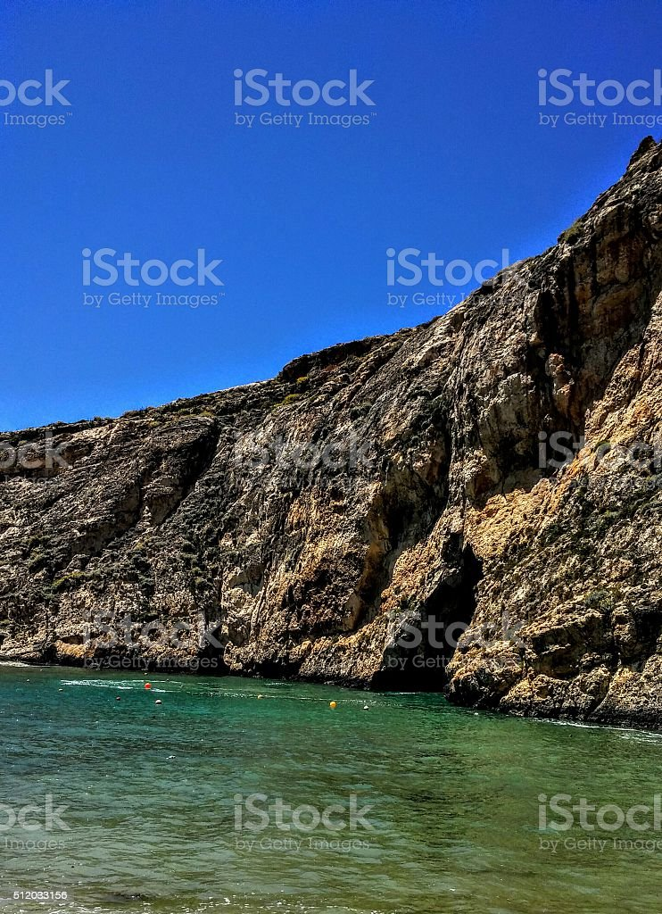 Hidden bay, oasis of peace royalty-free stock photo