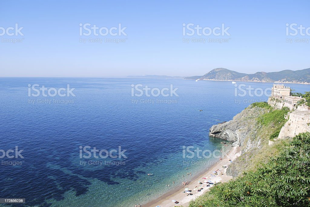 Hidden beach on Elba stock photo