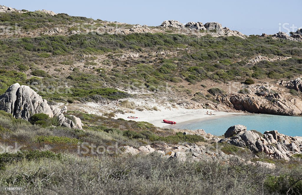 Hidden beach royalty-free stock photo