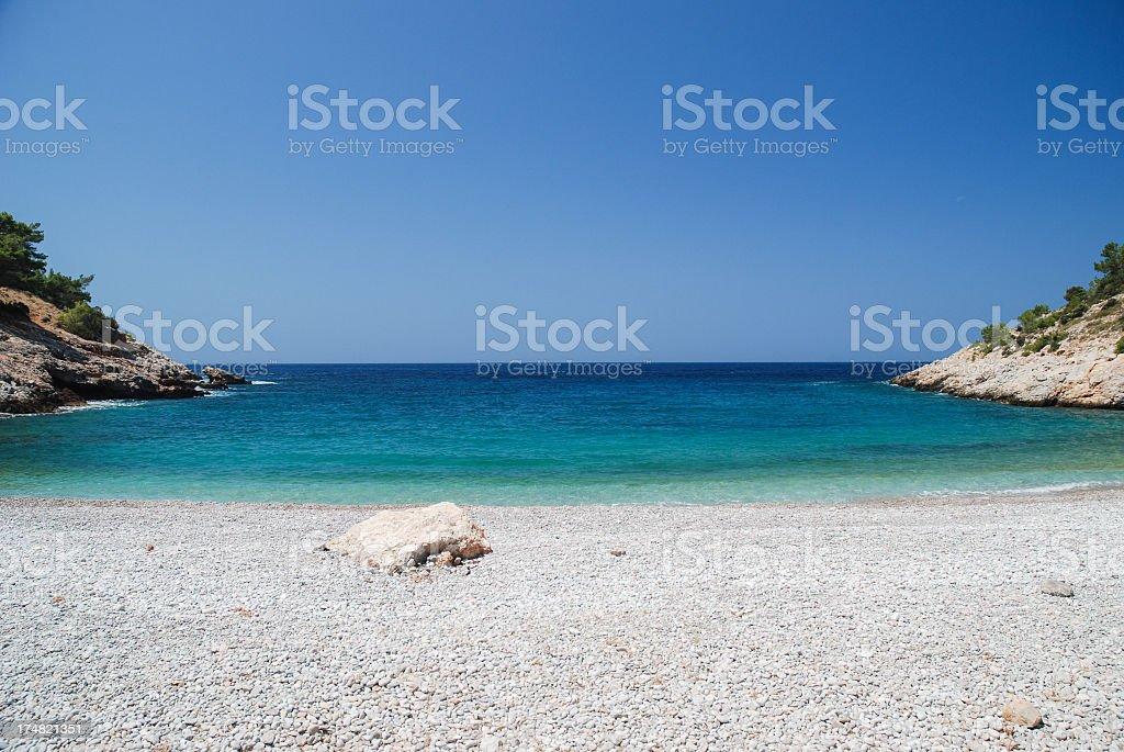 Hidden Chios beach stock photo