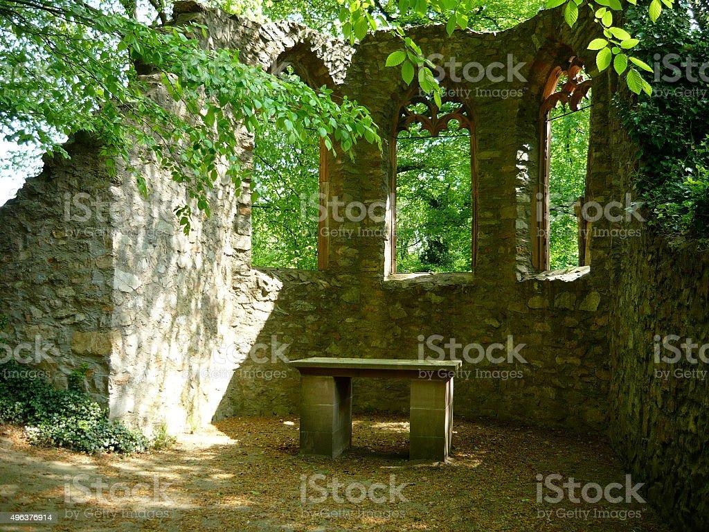 Hidden Church ruins stock photo