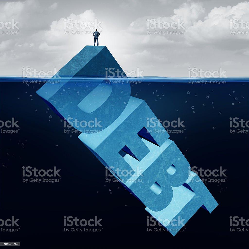 Hidden Debt stock photo