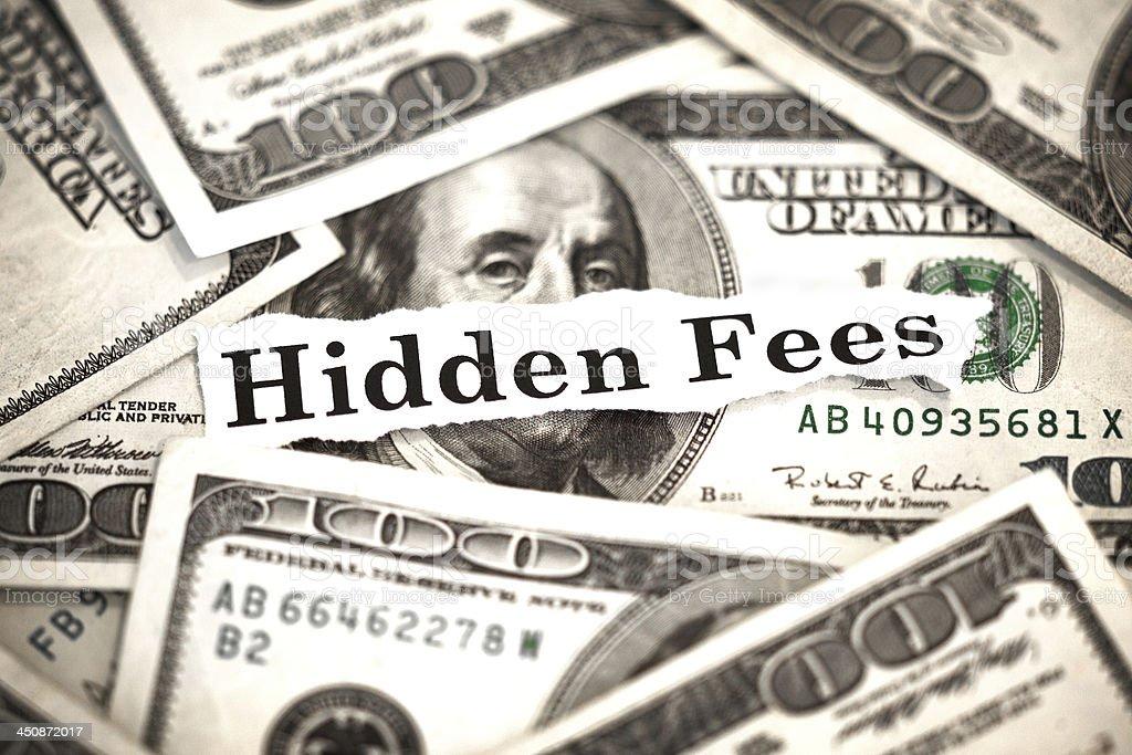 Hidden Fees stock photo