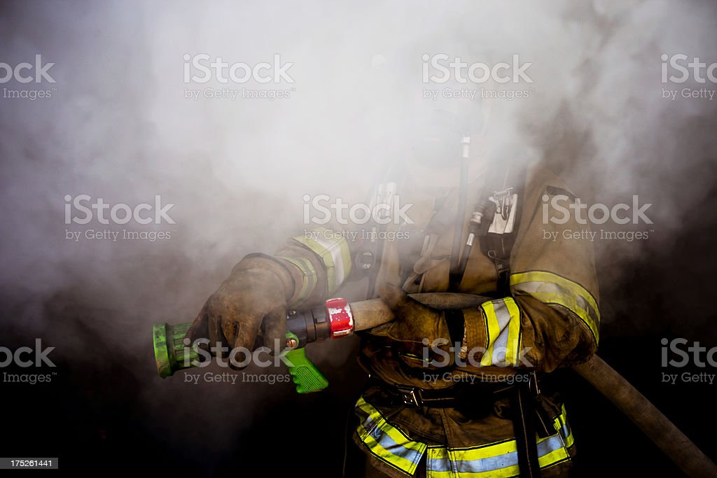 Hidden Firefighter royalty-free stock photo