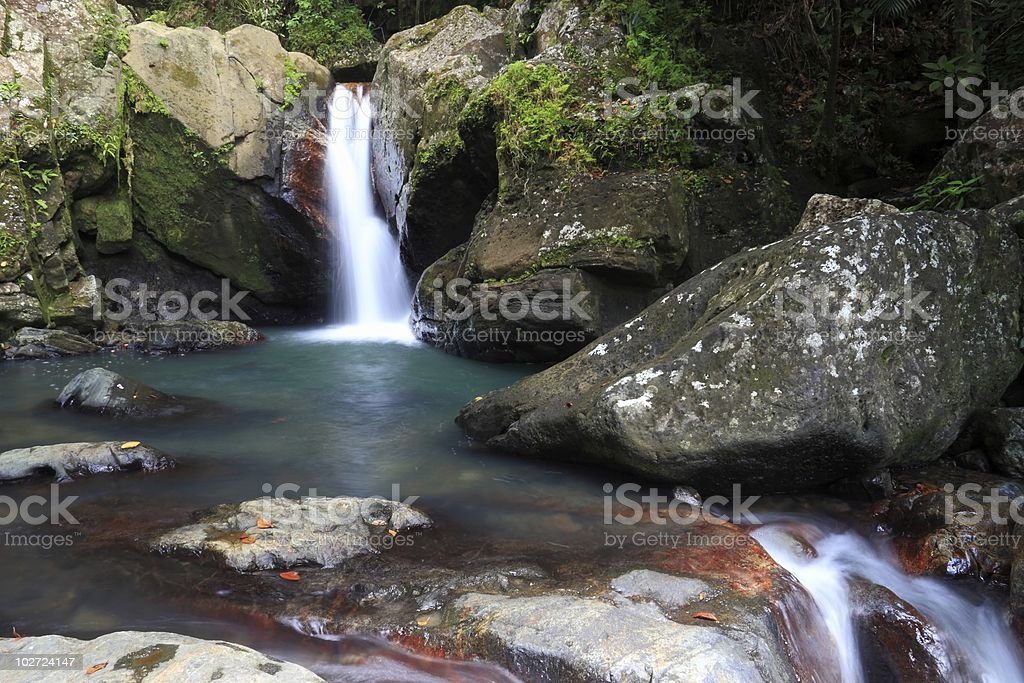 Hidden Grotto and Falls stock photo