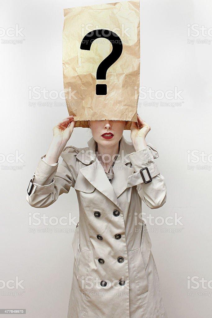 Hidden identity stock photo
