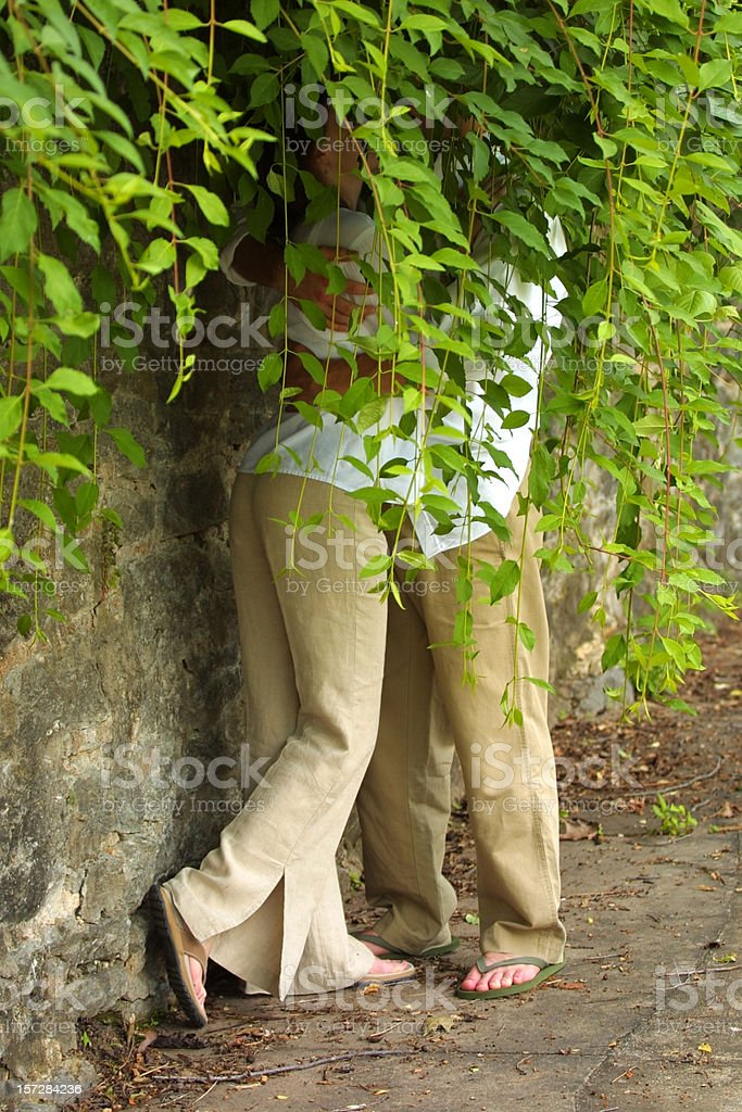 Hidden Kiss royalty-free stock photo