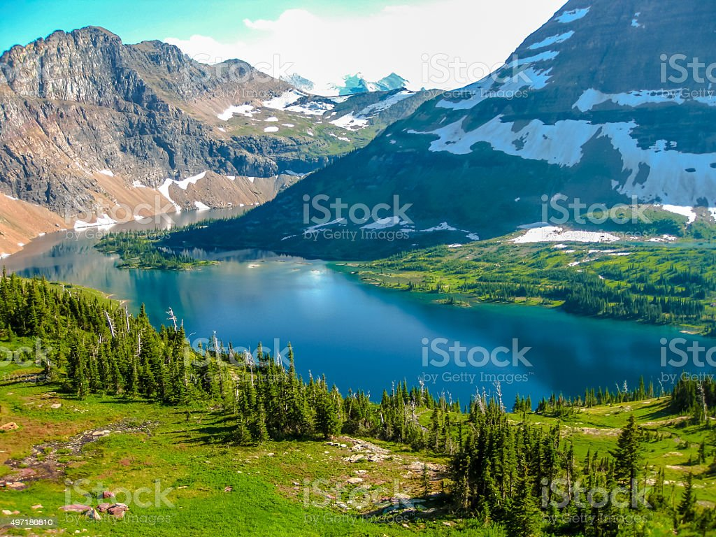 Hidden Lake Glacier National Park stock photo