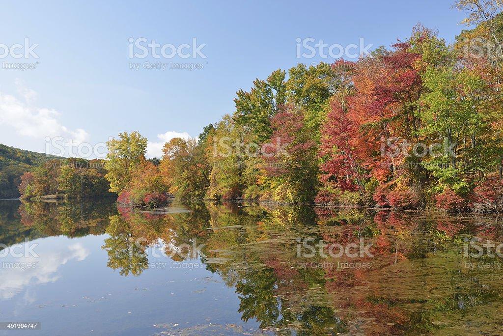 Hidden Lake in Fall stock photo