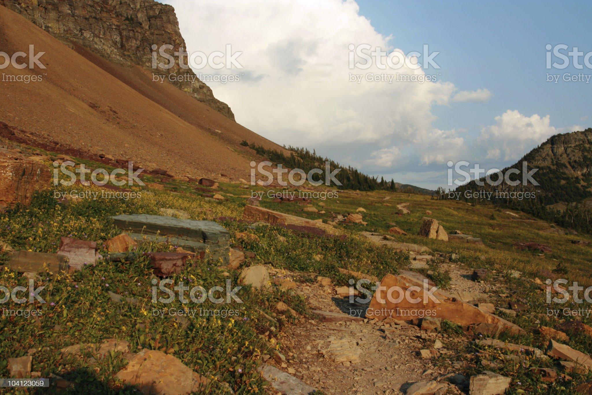Hidden Lake Nature Trail at Logan Pass royalty-free stock photo
