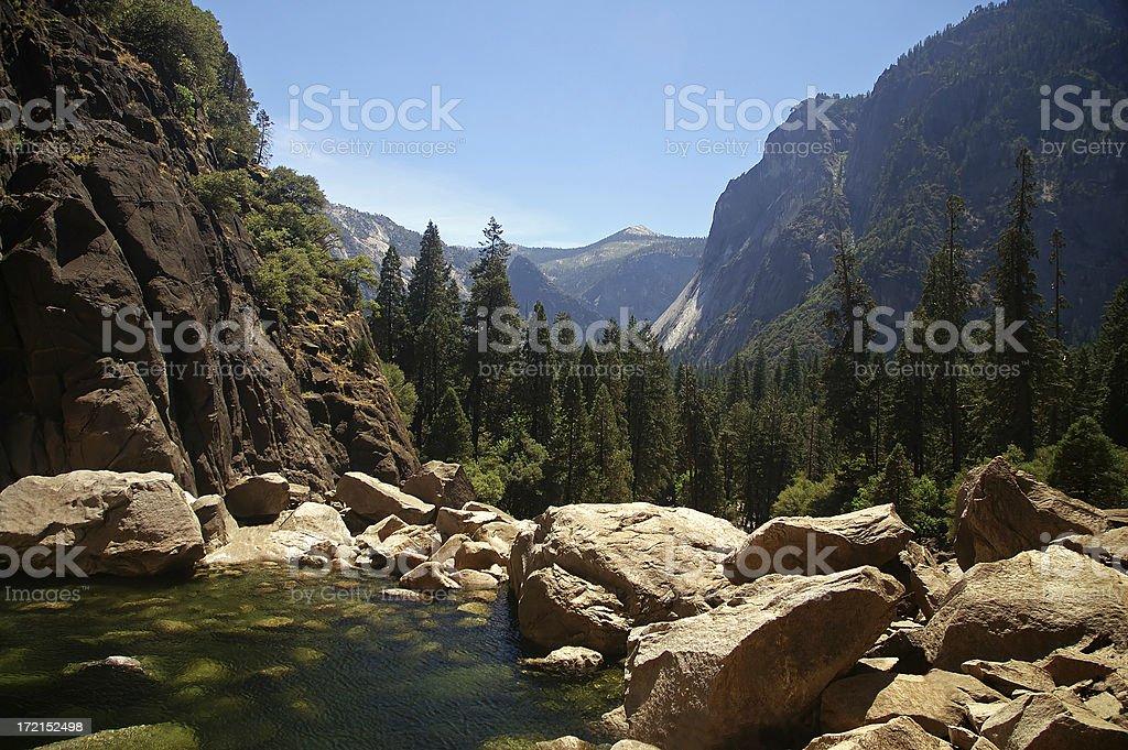 hidden lake royalty-free stock photo