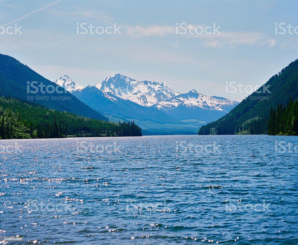 Hidden lake stock photo