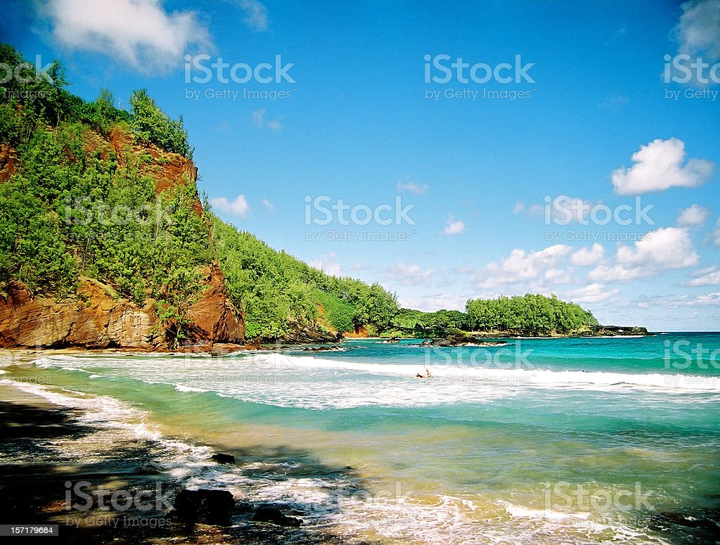 Hidden Maui Hawaii Pacific ocean beach scenic stock photo