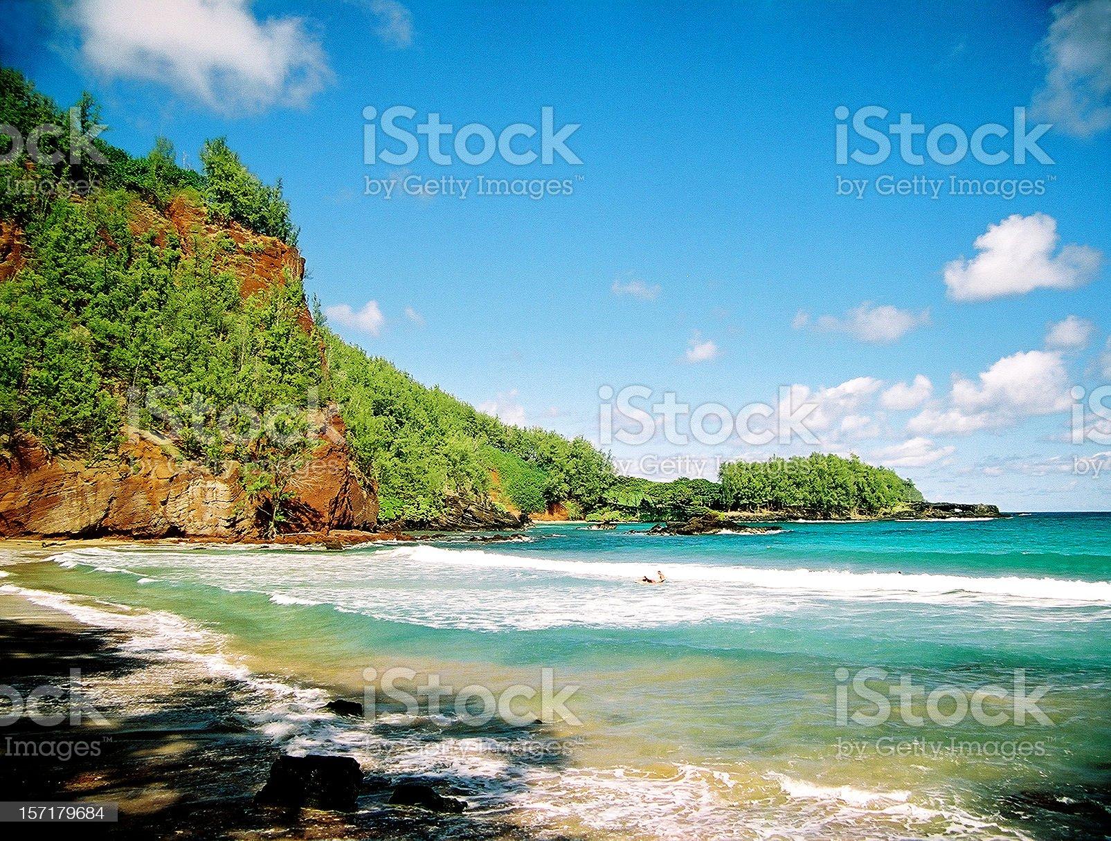 Hidden Maui Hawaii Pacific ocean beach scenic royalty-free stock photo