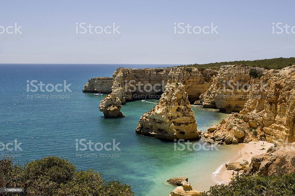 Hidden paradise beach royalty-free stock photo