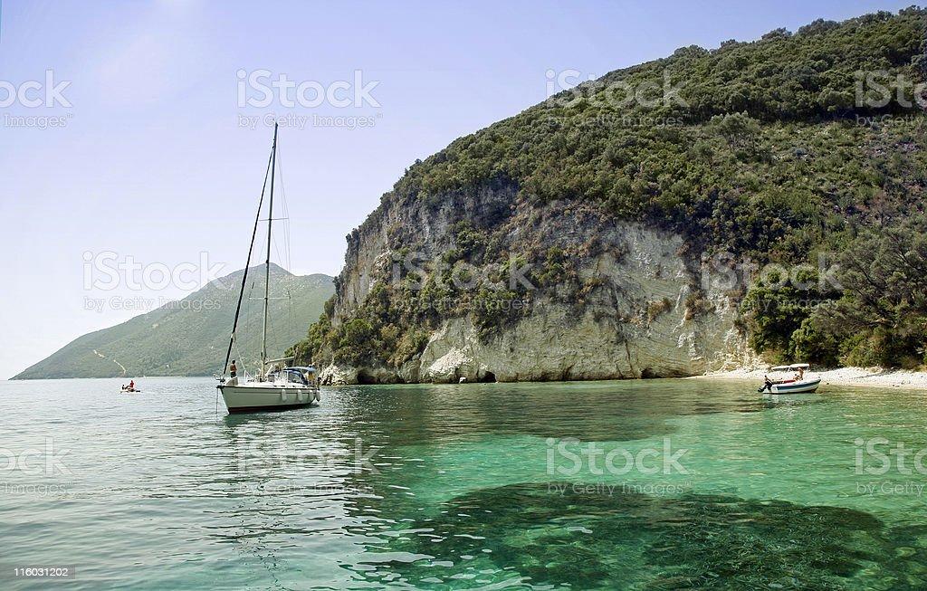 Hidden paradise stock photo