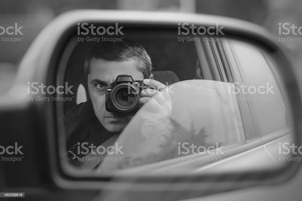 hidden photographing stock photo