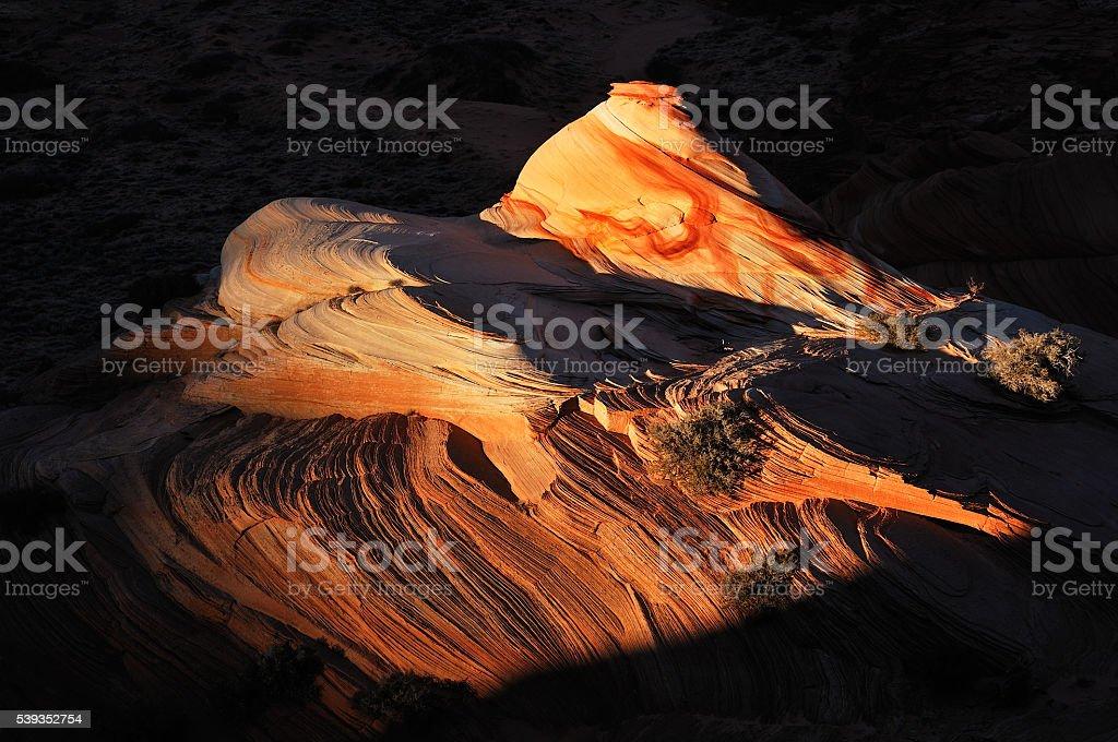 Hidden Rock Art stock photo