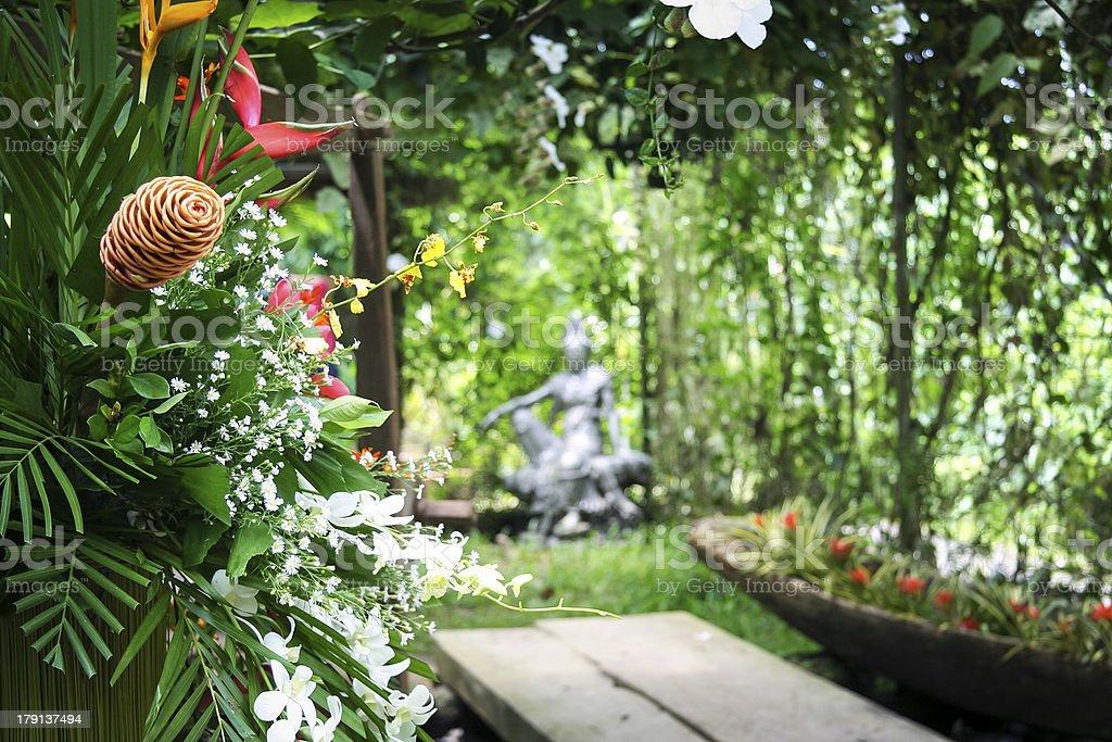 hidden tropical spa garden philippines royalty-free stock photo