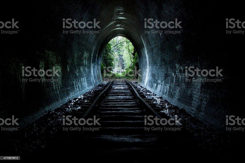 Hidden tunnel stock photo