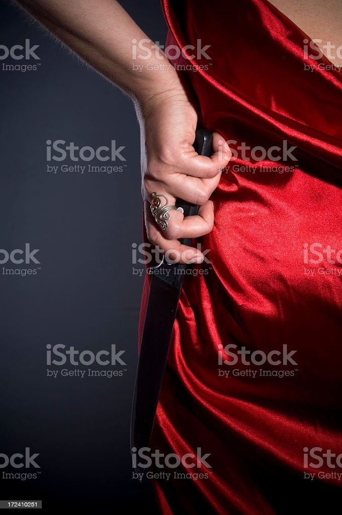 Hidden weapon royalty-free stock photo