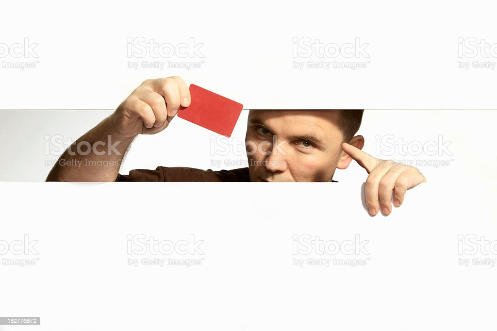 hidden with card royalty-free stock photo