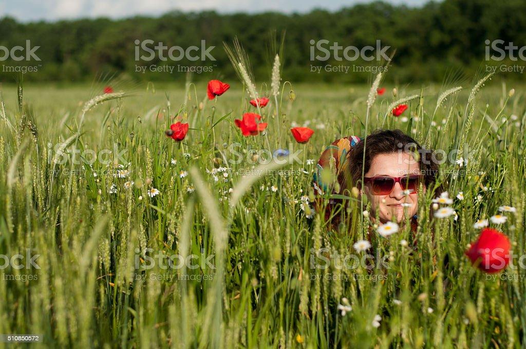 Hidding stock photo