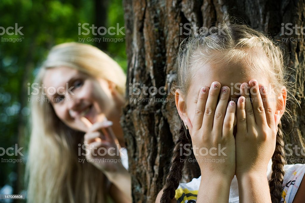 Hide and seek. royalty-free stock photo