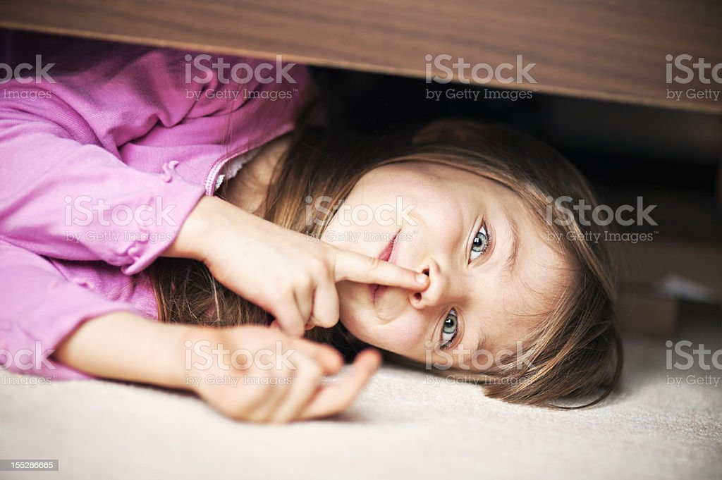 Hide and seek royalty-free stock photo