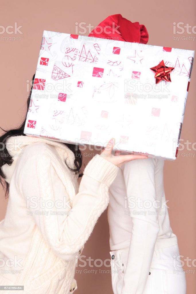Hide the face presents a couple stock photo