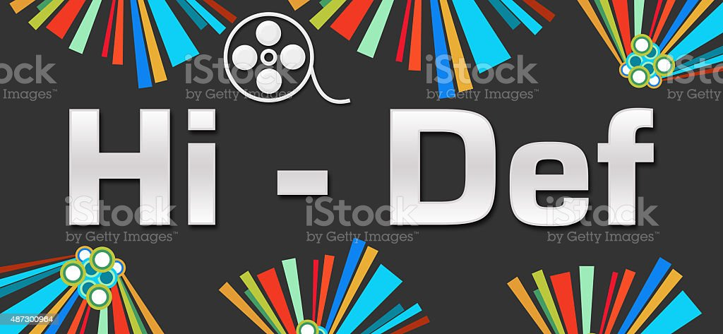 Hi-Def Dark Colorful Elements stock photo