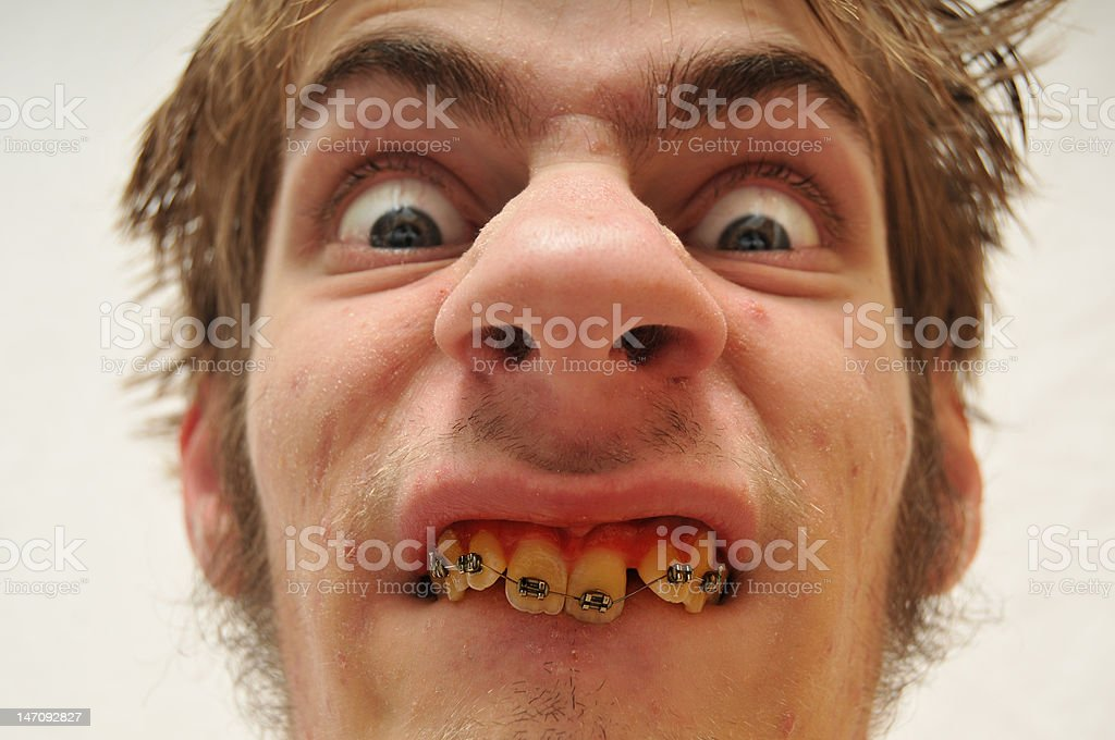 Hideous Monstrous Man stock photo