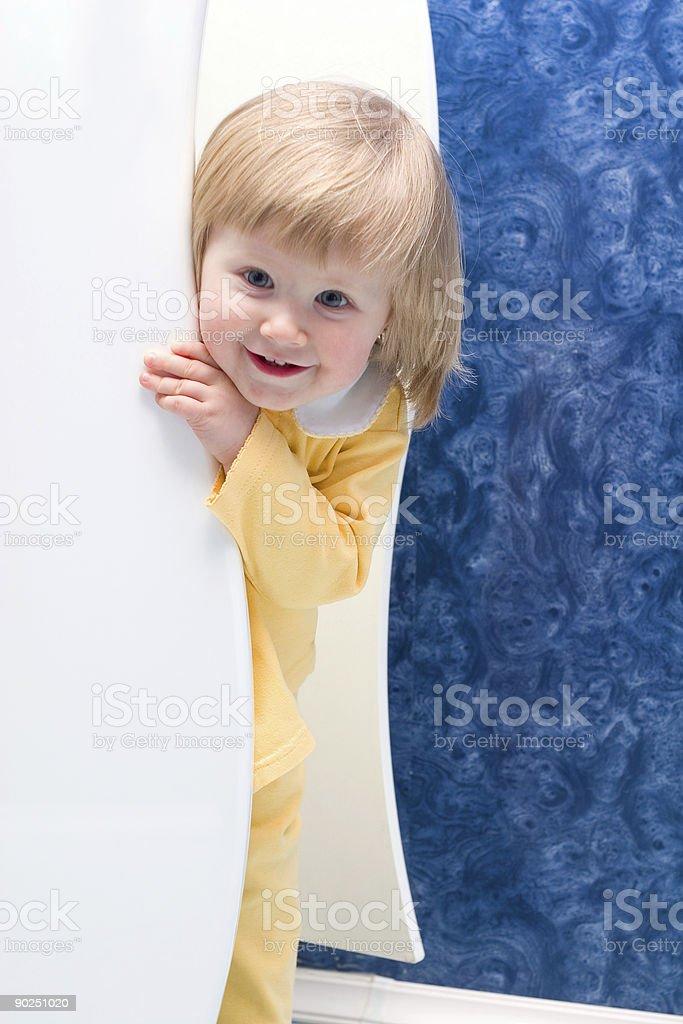 hiding girl royalty-free stock photo