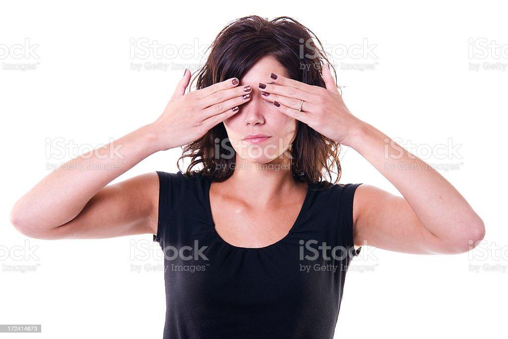 Hiding Her Eyes royalty-free stock photo