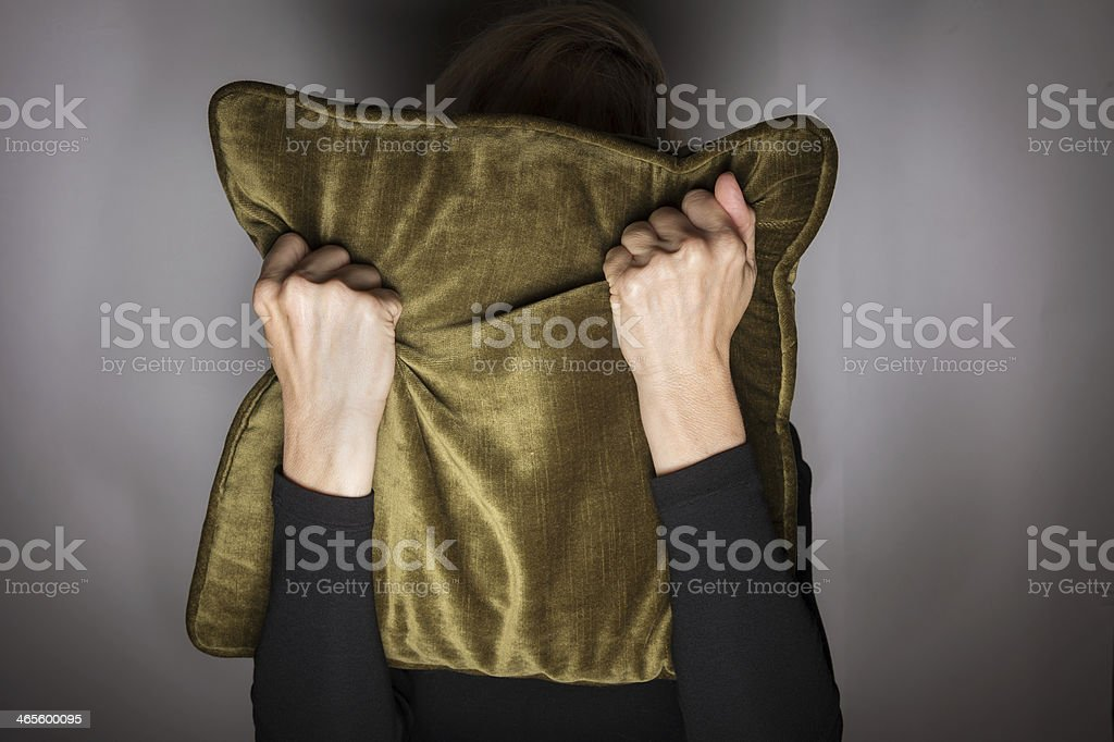 Hiding in Fear royalty-free stock photo