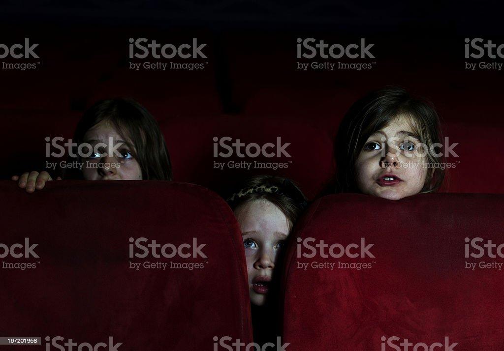 Hiding in the Cinema stock photo