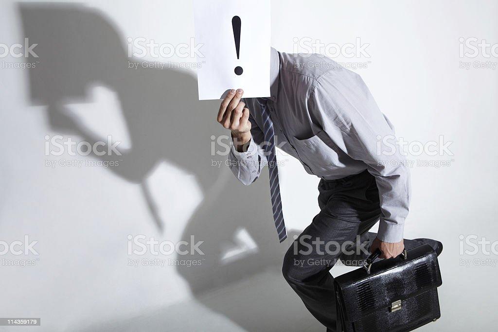 Hiding man stock photo