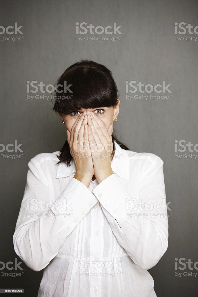 Hiding my face royalty-free stock photo