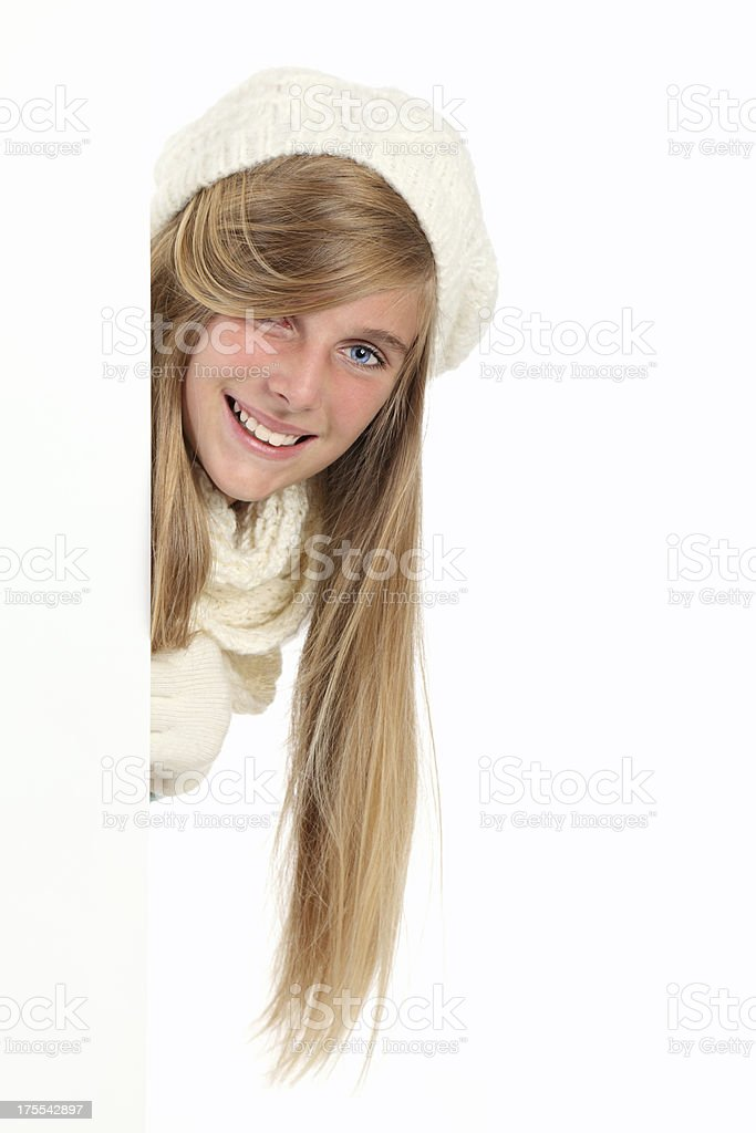 Hiding royalty-free stock photo