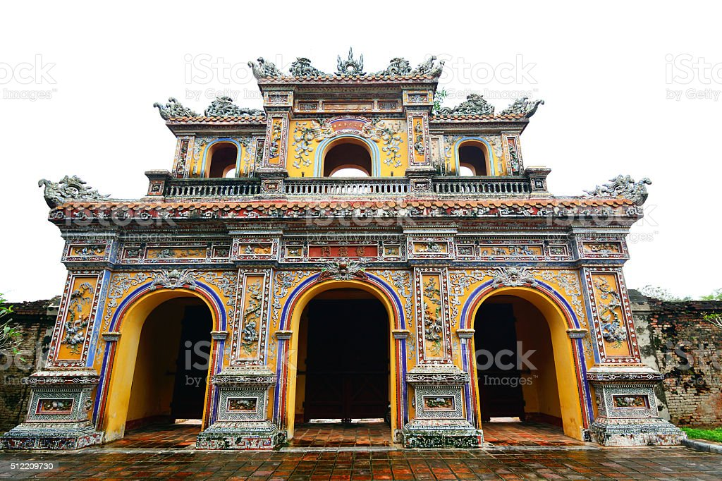 Hien Nhon Gate, Hue stock photo