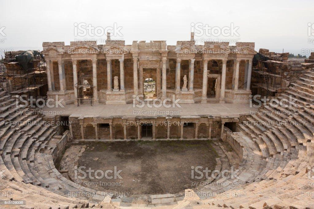 Hierapolis amphitheater stock photo