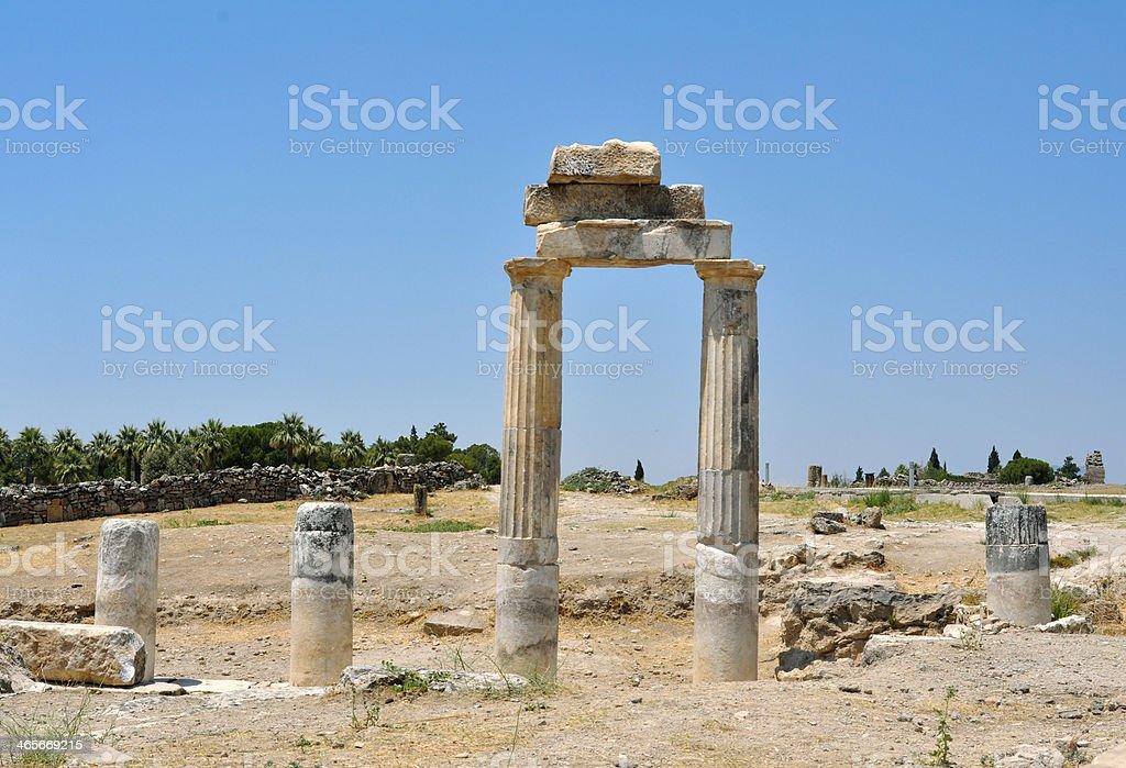 hierapolis gymnasium royalty-free stock photo